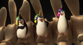 Penguins with phone