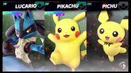 Pikachu, Pichu and Lucario