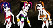 Rosie, Nia, and Ashima's bikinis by SUP-FAN