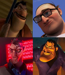 Shaw, Dwayne, Killian and Dick Dastardly