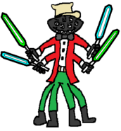 Slade Spider (four sabers) (two blue and two green)