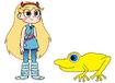 Star meets Golden Poison Dart Frog