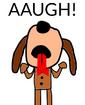 Fleegle yelling AAUGH
