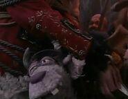 Clueless Morgan hugging Long John Silver