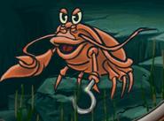 Crab in hugo lek och lar 7 hugo och djuren i havet