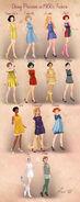 Disney Princesses 1960s Fashion