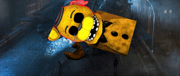 Golden Freddy's death in the 1998 movie