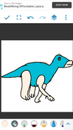 Lucy as Edmontosaurus
