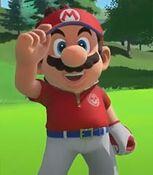 Mario in Mario Golf Super Rush