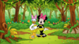 Minnie Mouse and Daisy Duck as a Leopardcloth Girls