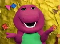 Barney Says- S4-S6 Barney says his rhyme in a yellow construction paper background