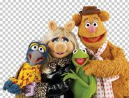Kermit the Frog Fozzie Miss Piggy & Gonzo (The Muppets) as Crows