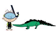 Stanley Griff meets Saltwater Crocodile