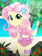 An Angel Named Fluttershy at the Beach