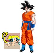 Goku adopting bubbles