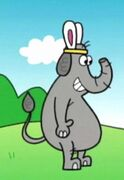Sad Cartoon Elephant