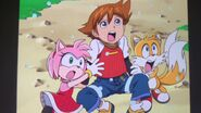 Amy, Chris and Tails Screaming