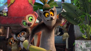 Clover behind King Julien