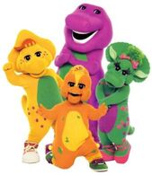 Barney, BJ, Baby Bop, and Riff