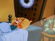 Bonkers sleeping in the beginning of Cartoon Cornered