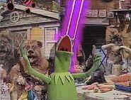 Kermit singing the last verse of Muppet Sing-Alongs intro