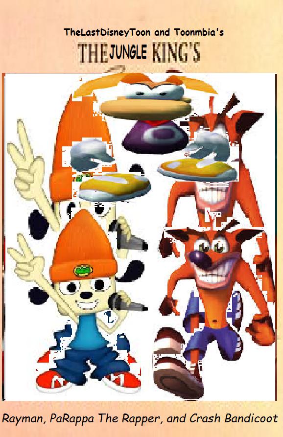 Rayman, PaRappa The Rapper, and Crash Bandicoot