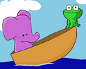Reader rabbit toddler purple elephant and green frog