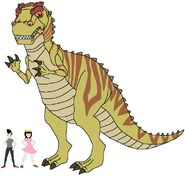 Riley and Elycia meets Giganotosaurus