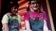 Zoe Costlleo and Caroline Botelho as Mary-Kate and Ashley Olsen