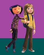 Coraline Jones and Riley