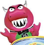 Barney as Carnotaurus