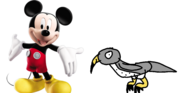 Mickey meets Peregrine Falcon
