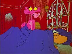Pink panther begins to sleep with big nose.jpg