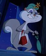Slappy squirrel smiles