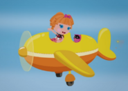 Bea Spells-a-Lot Flying in an Airplane