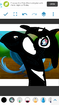 Blu and Jewel as Orcas