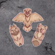 Brother Bear Eagle, Wolf and Bear Totems