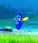 Dory in Turtle Talk with Crush