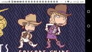 Eliza and Debbie as Cowpeople