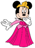 Minnie Mouse dressed as Aurora