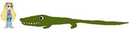 Star meets Nile Crocodile