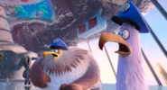 Jerry and Carl Eagle's shocked