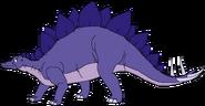 Sarah Spacebot stegosaurus form thelandbeforetime in thespacebotsadventuresseries