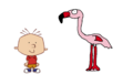 Stanley Griff meets Greater Flamingo