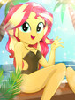 Sunset Shimmer's Beautiful Day at the Beach