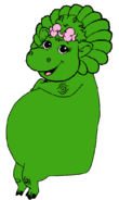 Baby Bop as the Hippopotamus Sitting