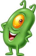 Cartoon-green-plankton-posing-illustration-90768861