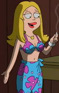 Francine Blue floral bikini