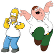 Homer Simpson And Peter Griffin Are Best Friends And The Most Idiotical Fathers Ever!
