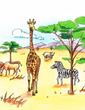 Jumpstart firstgrade congo safari antelope giraffe rhinoceros zebra